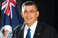 Hon McKeeva Bush OBE, JP, First elected member for West Bay
